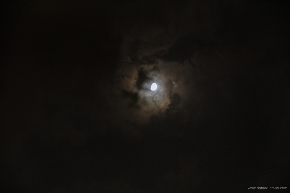 moon with cloud